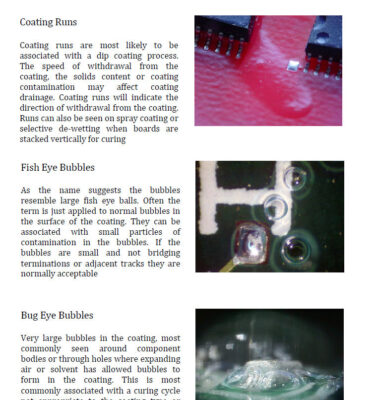 Conformal Coating wall charts and poster training sets